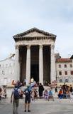 Tempiale di Augustus nei PULA Immagine Stock Libera da Diritti