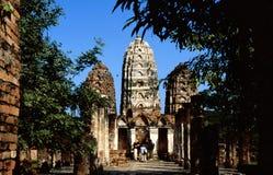 Tempiale di Ayutthayan Fotografia Stock Libera da Diritti