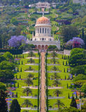 Tempiale di Bahai a Haifa immagini stock