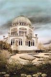 Tempiale di Bahai in Illinois Immagine Stock Libera da Diritti
