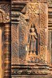 Tempiale di Banteay Srei Fotografie Stock