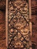 Tempiale di Banteay Srei vicino a Angkor Wat, Cambogia. immagine stock libera da diritti