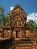 Tempiale di Banteay Srei vicino a Angkor Wat, Cambogia. fotografie stock libere da diritti