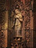 Tempiale di Banteay Srei vicino a Angkor Wat, Cambogia. immagini stock libere da diritti