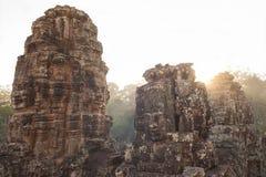 Tempiale di Bayon in Angkor Immagini Stock