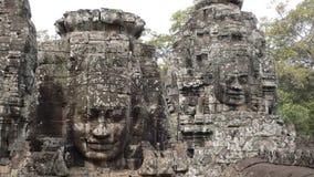 Tempiale di Bayon, Angkor, Cambogia Immagini Stock Libere da Diritti