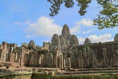 Tempiale di Bayon a Angkor Thom immagine stock