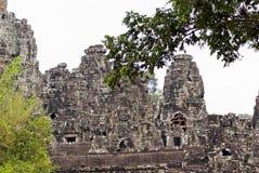 Tempiale di Bayon, Angkor Thom, Cambogia Immagini Stock Libere da Diritti