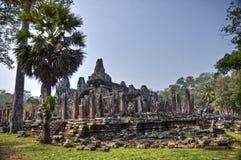 Tempiale di Bayon in Cambogia Fotografie Stock