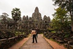 Tempiale di Bayon, Cambogia Immagine Stock Libera da Diritti