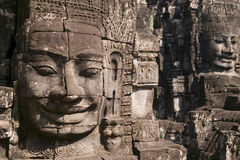 Tempiale di Bayon in Siem Reap Immagine Stock
