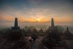 Tempiale di Borobudur Fotografia Stock Libera da Diritti