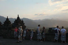 Tempiale di Borobudur, Java centrale, Indonesia Fotografie Stock Libere da Diritti