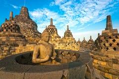 Tempiale di Borobudur, Yogyakarta, Java, Indonesia. Fotografie Stock Libere da Diritti
