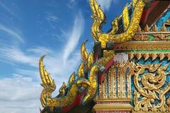 Tempiale di Buddhism a Bangkok, Tailandia Fotografie Stock Libere da Diritti