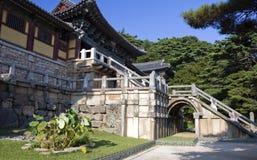 Tempiale di Bulguksa, il Sud Corea Fotografie Stock Libere da Diritti