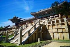 Tempiale di Bulguksa nel Sud Corea Fotografie Stock