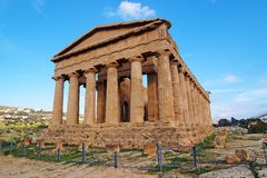 Tempiale di Concordia a Agrigento, Sicilia, Italia Immagini Stock Libere da Diritti