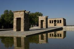 Tempiale di Debod a Madrid in Spagna Immagine Stock Libera da Diritti