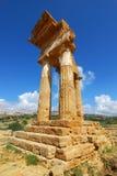 Tempiale di Dioscuri (Agrigento) Fotografie Stock Libere da Diritti