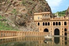 Tempiale di Galtaji, Jaipur.India. Fotografie Stock Libere da Diritti