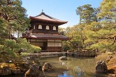 Tempiale di Ginkakuji a Kyoto, Giappone Fotografia Stock Libera da Diritti