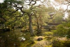 Tempiale di Ginkakuji a Kyoto, Giappone Immagine Stock Libera da Diritti