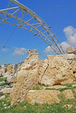 Tempiale di Hagar Qim Fotografia Stock