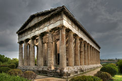 Tempiale di Hefaistos, Atene Fotografia Stock Libera da Diritti