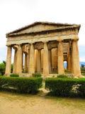 Tempiale di Hephaestus a Atene Fotografia Stock Libera da Diritti