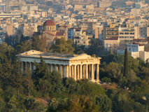 Tempiale di Hephaestus, Atene, Grecia Fotografia Stock Libera da Diritti