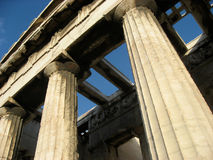 Tempiale di Hephaisteion, Atene Immagine Stock
