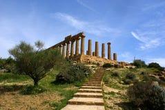 Tempiale di Hera Fotografia Stock Libera da Diritti