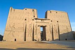 Tempiale di Horus, Edfu, Egitto Fotografie Stock Libere da Diritti