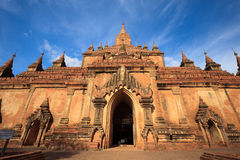 Tempiale di Htilominlo, Bagan, Myanmar Fotografia Stock Libera da Diritti
