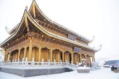 Tempiale di Huazhang di MT.Emei Fotografie Stock Libere da Diritti