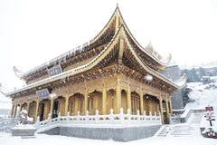Tempiale di Huazhang di MT.Emei Fotografia Stock Libera da Diritti