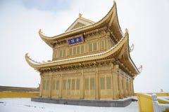 Tempiale di Jinding di MT.Emei Immagine Stock