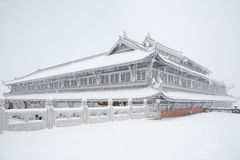 Tempiale di Jinding di MT.Emei Fotografie Stock