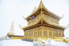Tempiale di Jinding e Puxian Buddha di MT.Emei Fotografia Stock Libera da Diritti
