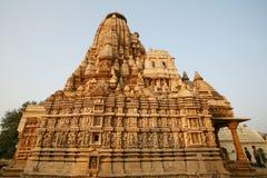 Tempiale di Khajuraho di rovine, India Immagini Stock