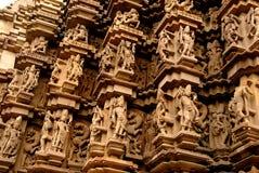 Tempiale di Khajuraho in India Immagine Stock