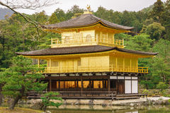 Tempiale di Kinkaku-ji a Kyoto Immagini Stock Libere da Diritti