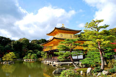 Tempiale di Kinkakuji, Giappone Fotografia Stock Libera da Diritti