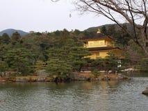 Tempiale di Kinkakuji a Kyoto, Giappone Immagini Stock Libere da Diritti