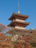 Tempiale di Kiyomizu Immagini Stock Libere da Diritti