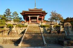Tempiale di Kiyomizu Fotografia Stock Libera da Diritti