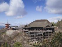 Tempiale di Kiyomizu Fotografie Stock Libere da Diritti