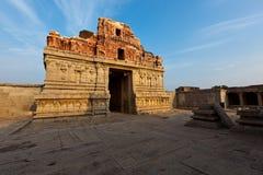 Tempiale di Krishna sul tramonto fotografia stock libera da diritti