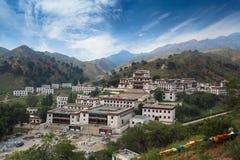 Tempiale di Lamaism sotto il cielo blu Fotografia Stock Libera da Diritti